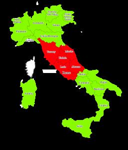 Middle Italy map - Mappa centro Italia