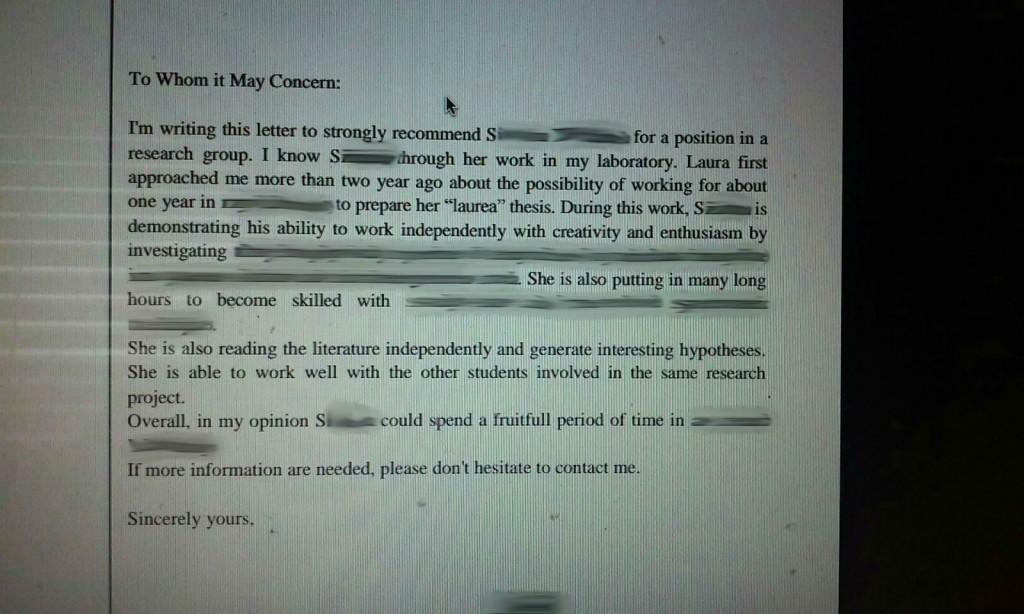 tragicomic recommendation letter horrible english