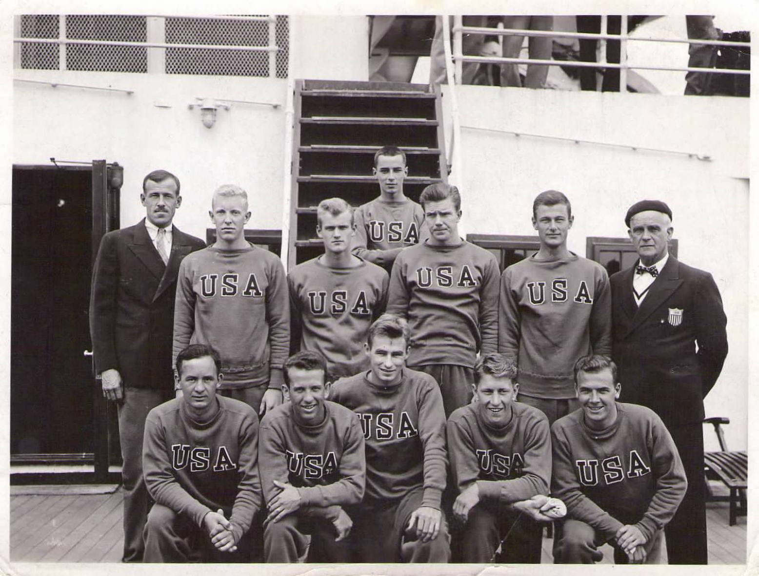 Eugene Fruehauf olympic games berlin 1936, olympic handbook