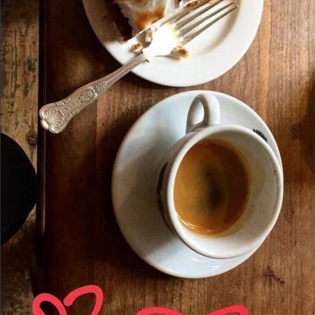 cake and coffee, treat, st valentine