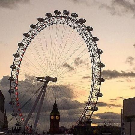 big ben, london eye, london panorama