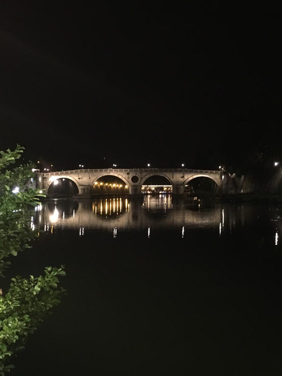 Roma lungo tevere, tevere roma, roma by night brideg
