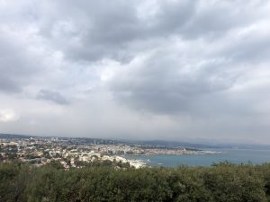 View from the Antibes lighthouse hill Antibes Water meetup 22-28.02.2018